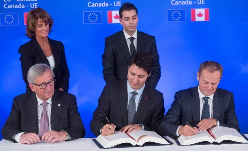 L'accord de libre-échange Canada-UE est signé