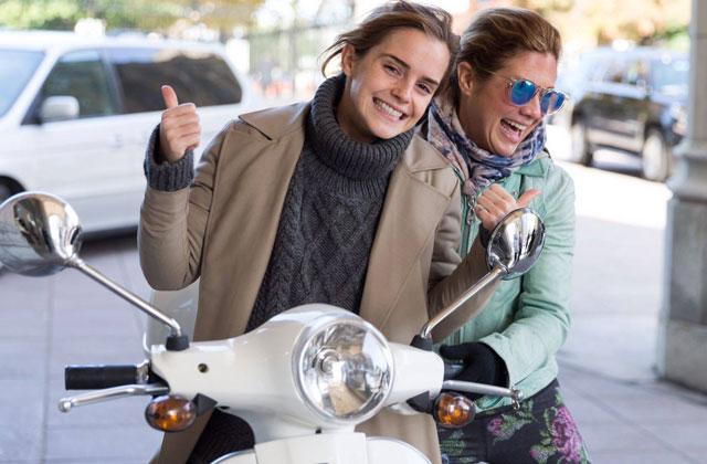 Emma Watson et Sophie Grégoire Trudeau font du scooter ensemble