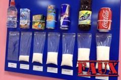 Non, cette image ne montre pas les vrais taux de sucre de ces boissons