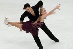 Les danseurs sur glace Weaver et Poje font une pause de la compétition