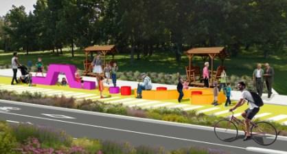 Un espace de jeu pour les enfants. Photo: Collaboration spéciale/LN paysage