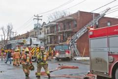 Incendie sur le boulevard LaSalle