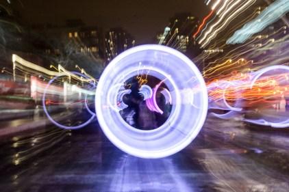 [PHOTOS] Le centre-ville illuminé par des roues géantes