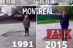 Non, ceci n'est pas une photo du même nid-de-poule à Montréal 24 ans plus tard