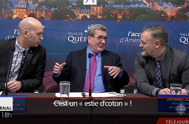 Régis Labeaume s'en prend au sapin de Montréal