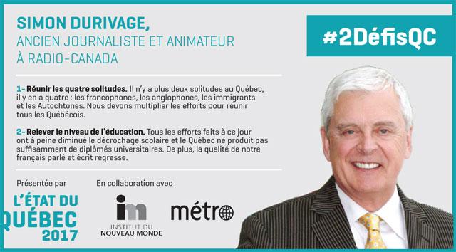 Les 2 défis de Simon Durivage