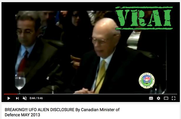 Oui, un ancien ministre de la Défense du Canada croit vraiment aux extraterrestres