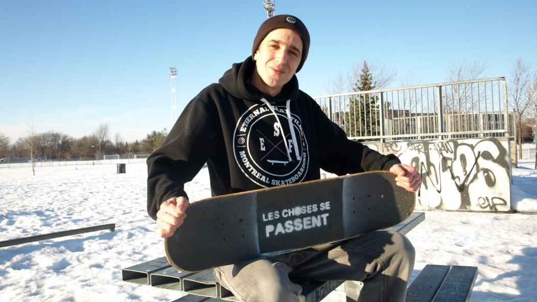 Vincent Letellier collabore au comité Projet Skatepark Rosemont avec d'autres amateurs de la planche à roulettes.
