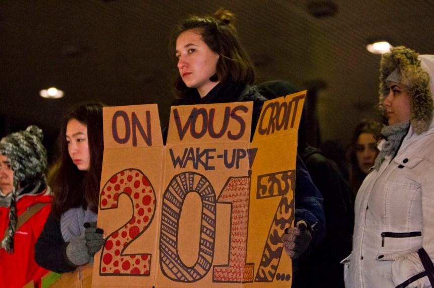 Une centaine de femmes manifestent contre la culture du viol à Montréal