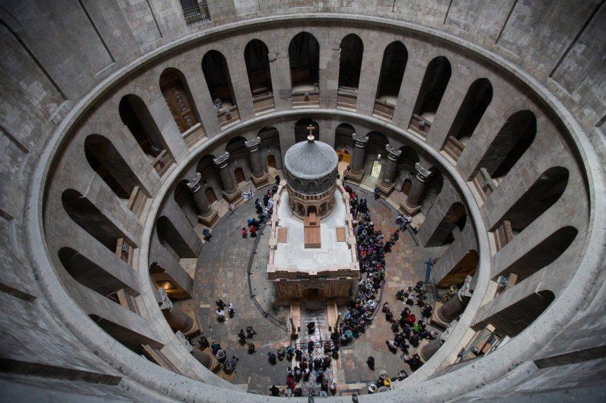 [PHOTOS] Le tombeau du Christ se dévoile après des mois de rénovations