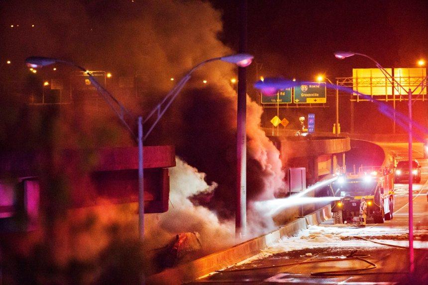 [PHOTOS] Effondrement de viaduc à Atlanta