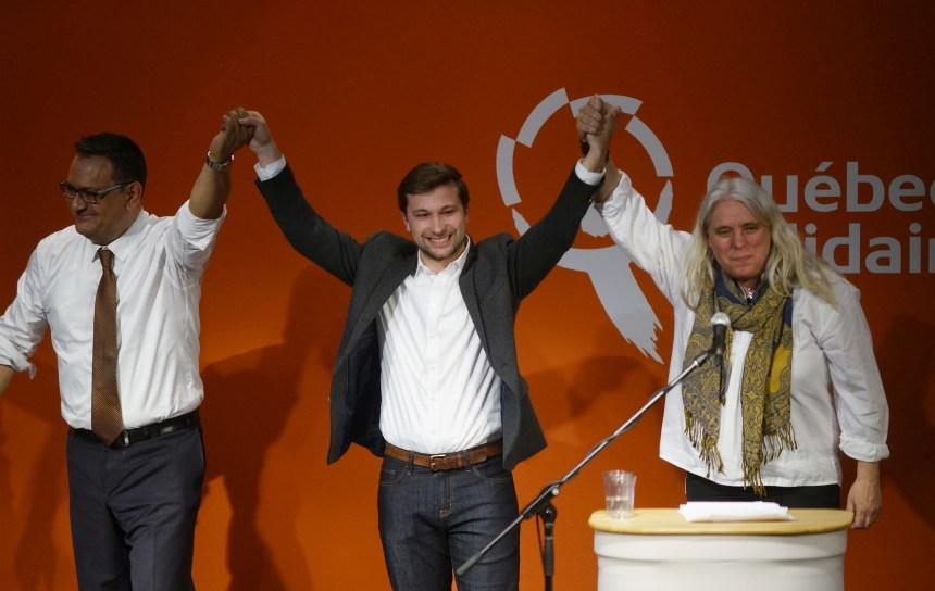 Investi dans Gouin, Nadeau-Dubois attaque les libéraux