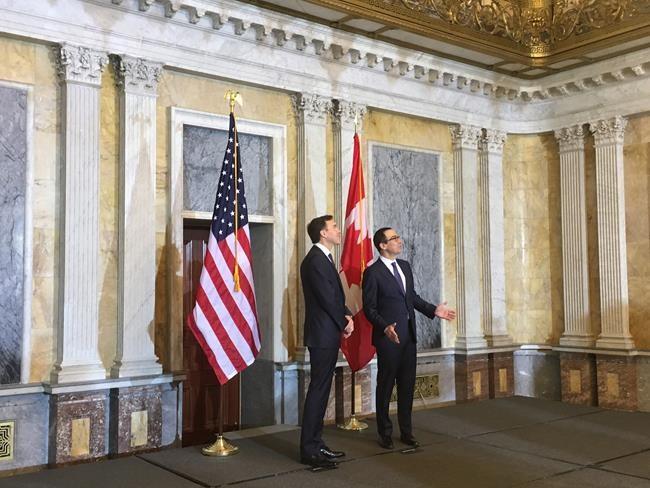 Le ministre Morneau en visite à Washington