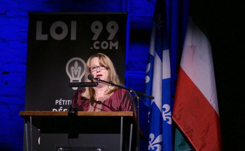 Mobilisation en faveur de la loi 99 à Montréal