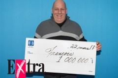 Un Montréalestois doublement chanceux gagne le million