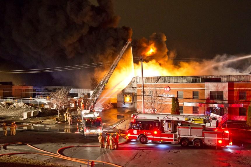 Incendie majeur dans le parc industriel d'Anjou
