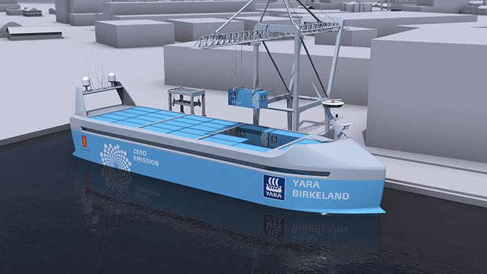 Un premier cargo électrique autonome sera construit en Norvège