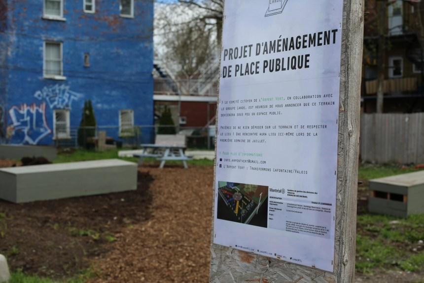Un terrain vague transformé en parc citoyen dans Hochelaga