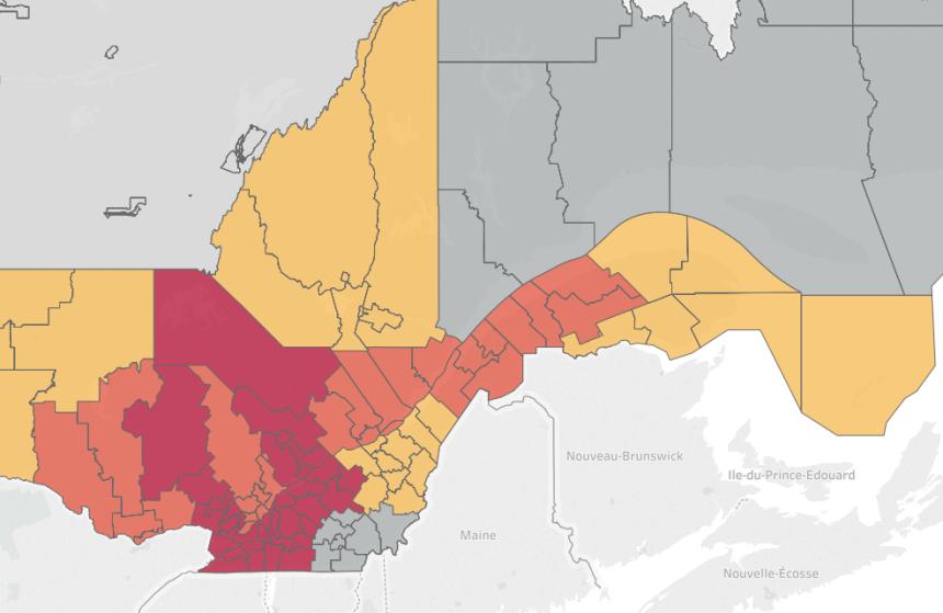 [Carte] La situation des inondations au Québec