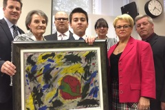 Les élus de Montréal-Est appuient la campagne d'un jeune peintre