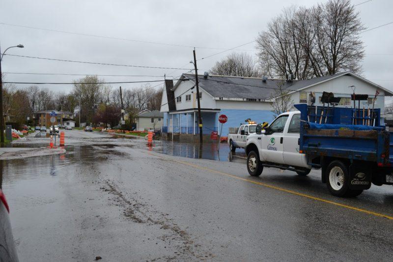 Crue printanière: le niveau de l'eau remonte à Gatineau