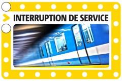 Interruption de service sur la ligne jaune