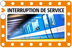 Interruption de service sur la ligne orange