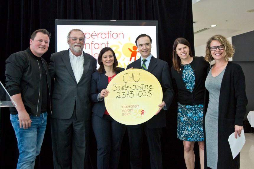 Opération Enfant Soleil: près de 5 millions $ pour les enfants malades