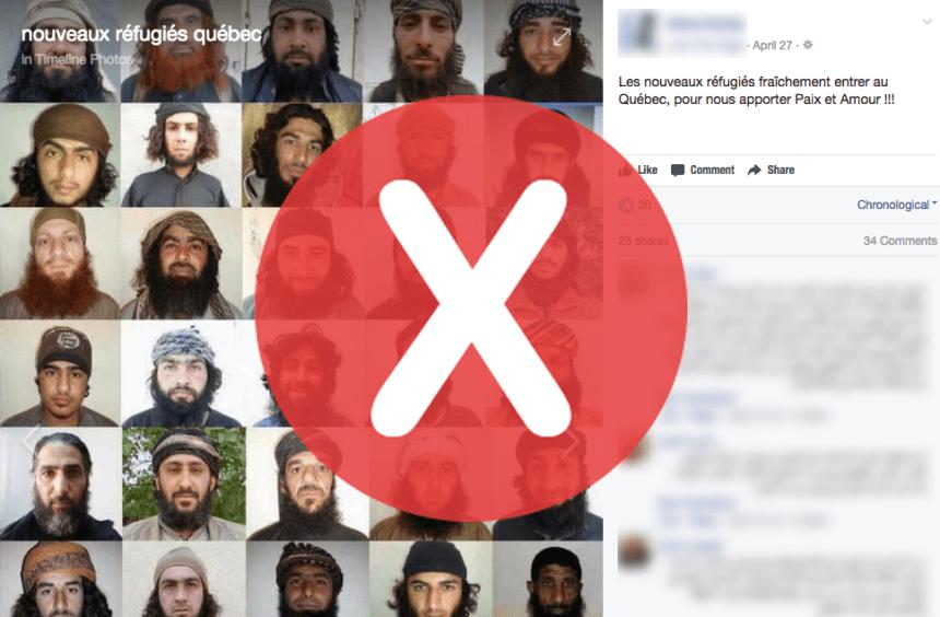 Non, ces hommes ne sont pas des réfugiés «fraîchement entrés» au Québec