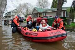 Inondations sur l'île de Montréal, mercredi