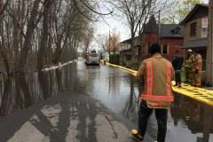 Des rues de Cartierville inondées