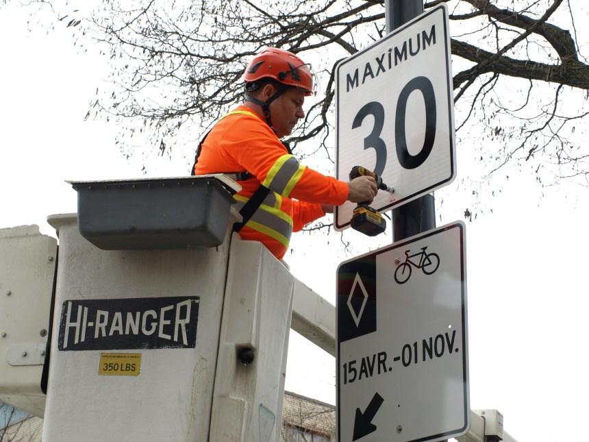 Montréal veut imposer une limite de vitesse à 30km/h dans toutes ses rues résidentielles