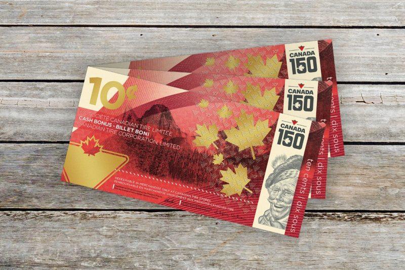 Canadian Tire lance un nouveau billet de 10¢