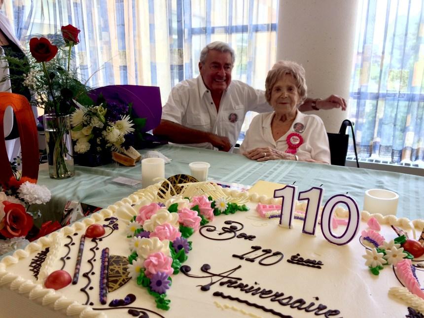 Elle fête 110 ans à Bordeaux-Cartierville