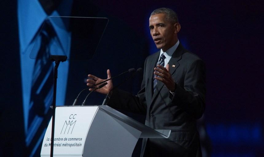 Barack Obama livre un discours d'espoir à Montréal