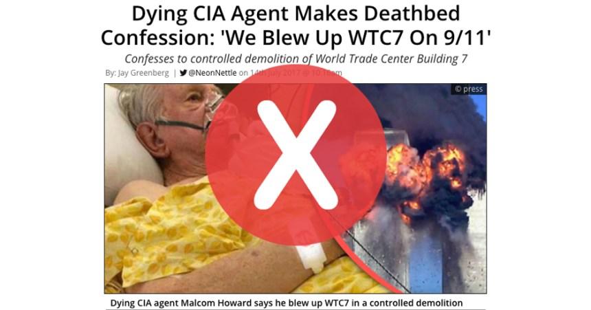 Non, un agent de la CIA n'a pas confessé que le 9/11 a été orchestré par les États-Unis