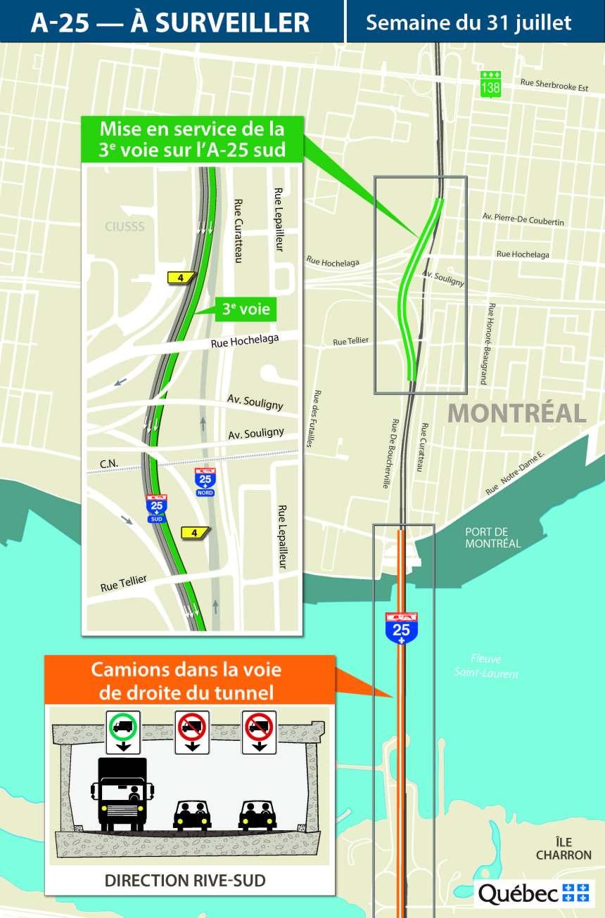 La fermeture du pont tunnel Louis-H.-La Fontaine est reportée
