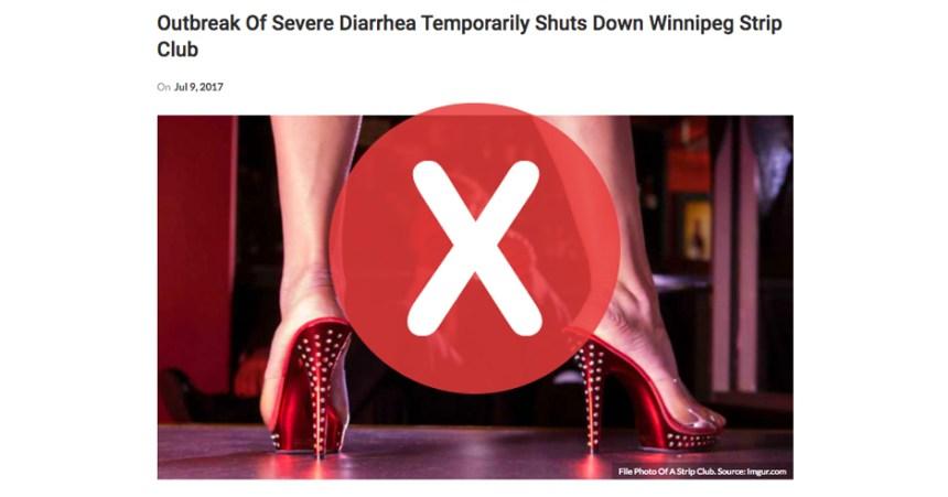 Non, un club de danseuses n'a pas fermé à cause d'une «épidémie de diarrhée»