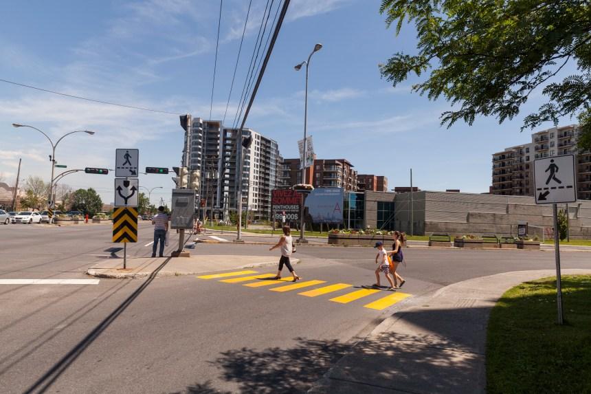 Mesures temporaires pour améliorer l'intersection Newman/Angrignon à LaSalle