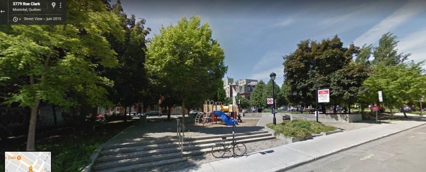Un parc pour enfant dans le secteur Jeanne-Mance