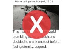 Non, une victime de Pompei n'est pas morte en se masturbant