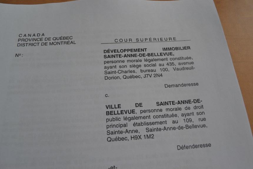 Poursuite de 35 M$ contre Sainte-Anne-de-Bellevue