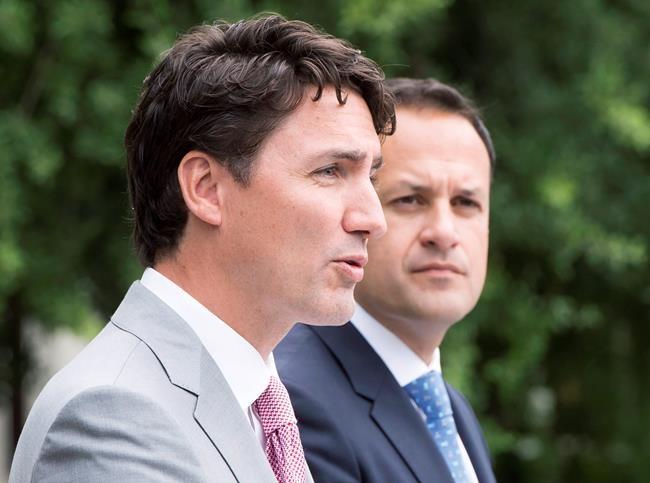 Trudeau et Varadkar vantent le libre-échange