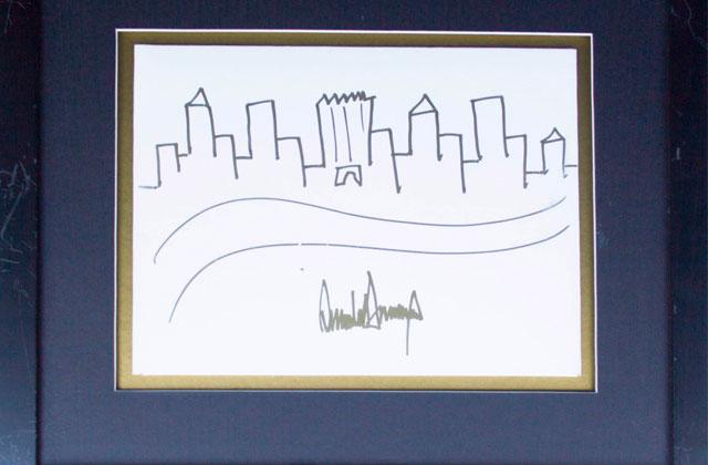 Un dessin de Donald Trump mis aux enchères pour 9000$