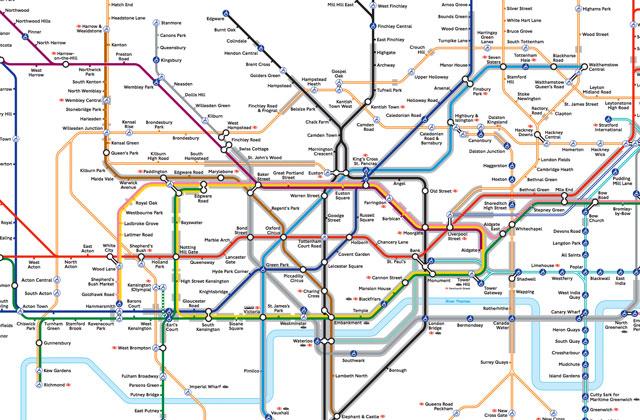 Le métro de Londres publie une carte des transports en ...