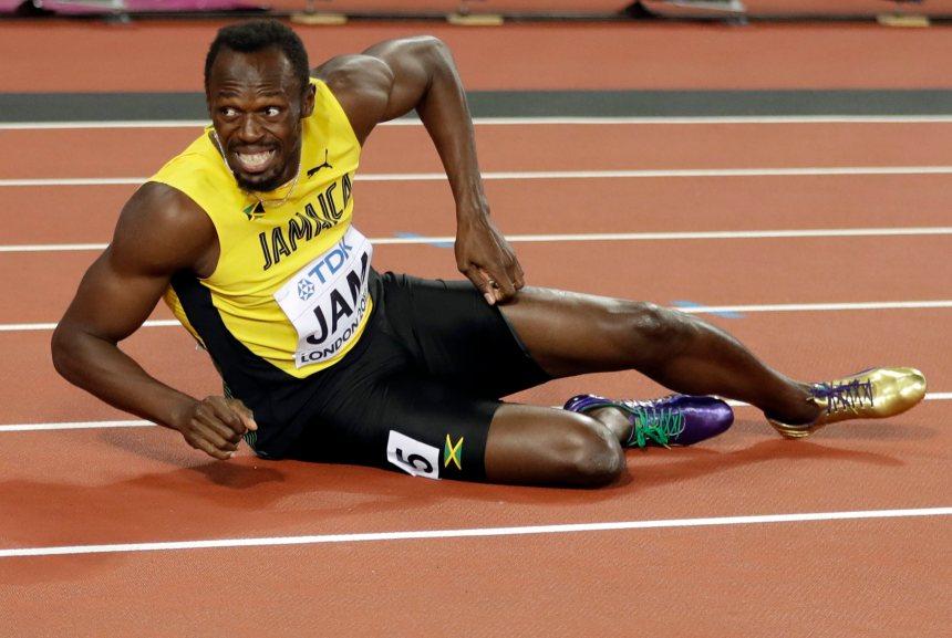 Usain Bolt ne peut compléter sa dernière course
