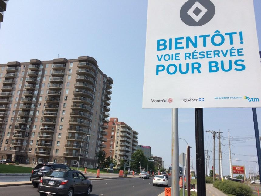 Pas de voie réservée sur Notre-Dame à PAT et Montréal-Est