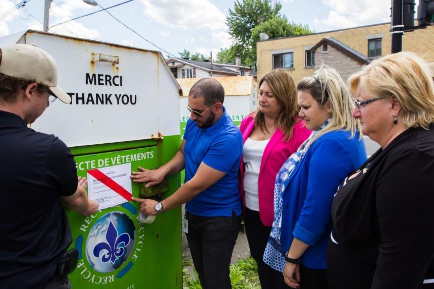 Montréal-Nord serre la vis aux boites de dons