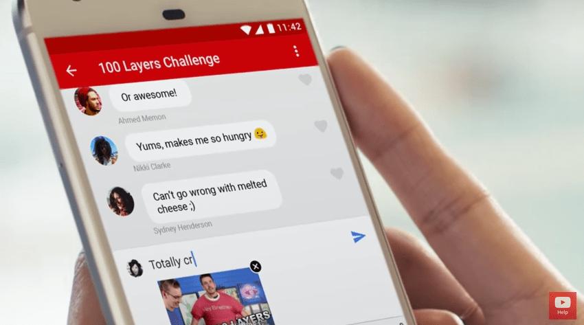 YouTube intègre une messagerie à son application mobile