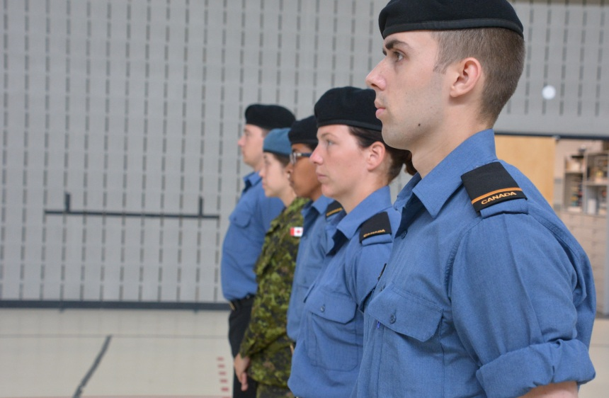 Les recrues de la Marine dans Saint-Henri